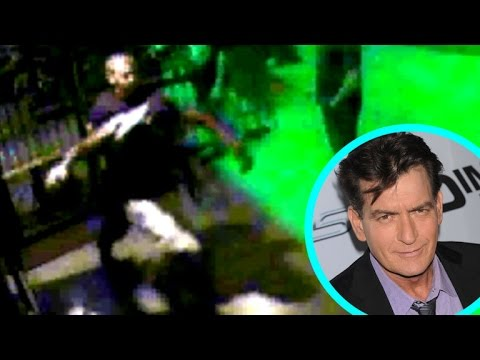 Charlie Sheen Gets Headlocked & Kicked Out of a Bar
