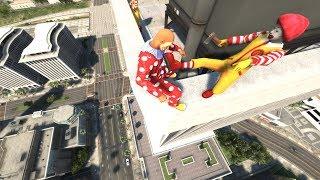 Ronald McDonald in GTA 5 Crazy Jumps-Falls-Ragdolls #5 [Euphoria physics | Funny Moments]