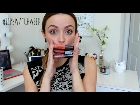 Lip Swatches/ Review- Nyx Intense Butter Glosses   #LipSwatchWeek
