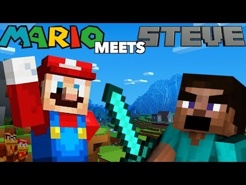 MARIO MEETS STEVE - Minecraft Machinima