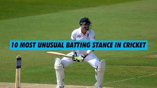 10 Most Unusual Batting Stance in Cricket | Simbly Chumma