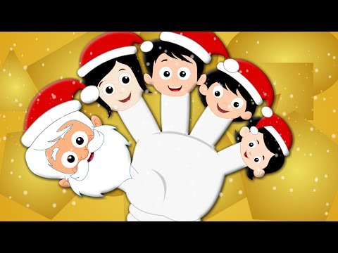 Santa Claus Finger Family Christmas Carol From Kids Tv Kids Tv Nursery Rhymes