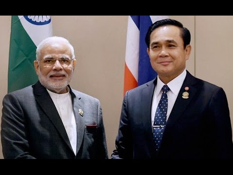 Narendra Modi With Thai PM Gen Prayuth Chan-ocha