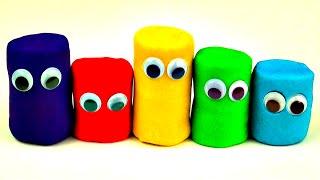 Play-Doh Surprise Eggs Minnie Mouse Spongebob Squarepants Disney Frozen Cars 2 Smurfs Toys FluffyJet