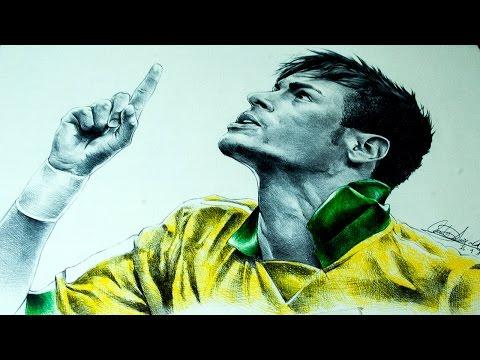 Drawing Neymar Jr Dibujando a Neymar Jr