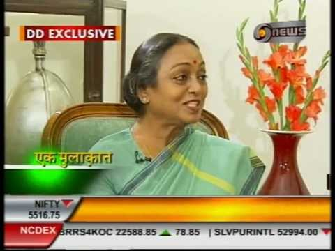 Manoj Tibrewal Aakash Interviewed Lok Sabha Speaker Meira Kumar for Ek Mulaqat (English)