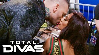 Corey Graves kisses Carmella good luck: Total Divas, Nov. 19, 2019