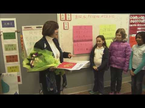 Mrs. Pence Visits the International School of Indiana - 01/23/2014