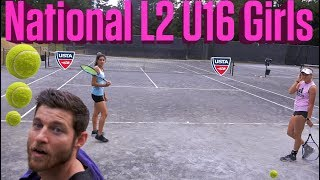 NTRP 5.0 (UTR 9.5) Male hitting with Top 200 Females U16