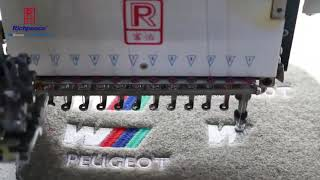 Embroidered Carpet Car Floor Mats made by Richpeace embroidery machine