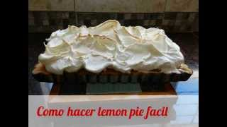 Como hacer lemon pie facil