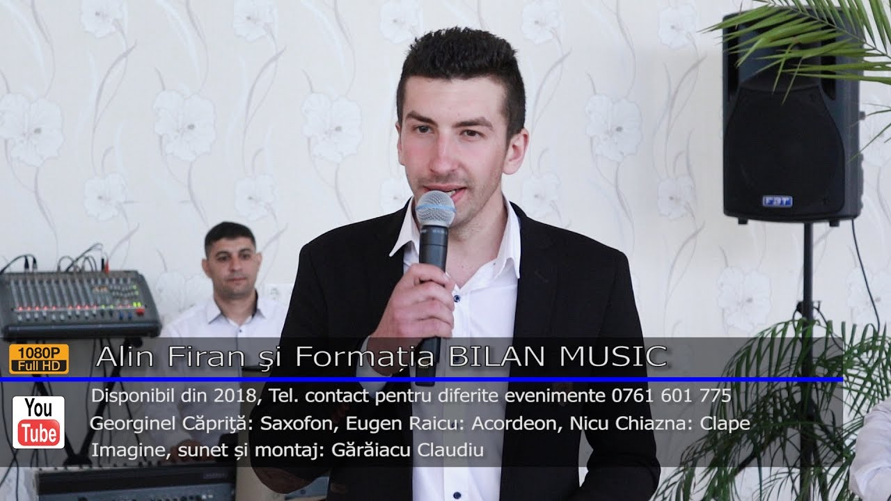 Alin Firan si Formatia BILAN MUSIC   Colaj ASCULTARE LIVE 2017   Contact 0761 601 775