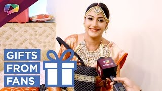 Surbhi Chandna receives gifts from her fans
