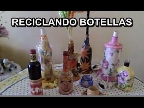MANUALIDADES RECICLAJE BOTELLAS DE VIDRIO