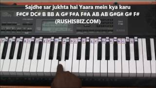 Tu hi to jannat meri (Piano Tutorials) - (Gamakas Included) | Rab Ne Bana Di Jodi