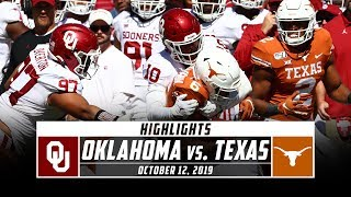 No. 6 Oklahoma vs. No. 11 Texas Football Highlights (2019) | Stadium