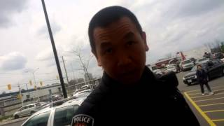Ottawa Trainyards Cop Trying To Give Me the Business and Gets Owned
