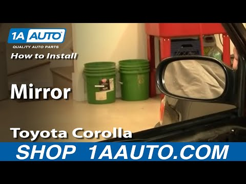How To Install Replace Side Rear View Mirror Toyota Corolla 98-02 1AAuto.com