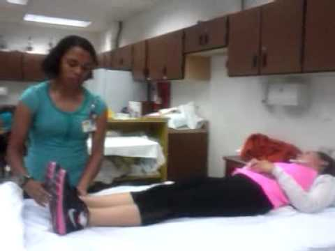 CNA SKILLS: ROM- hip, knee, and ankle