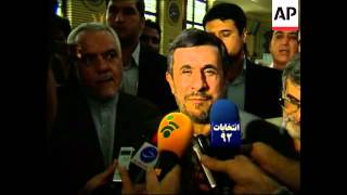 4:3 Clean pics of President Mahmoud Ahmadinejad voting