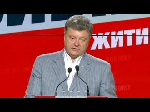 Ukraine's new president Petro Poroshenko says he will push for EU integration