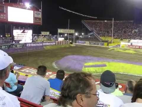 Monster Jam World Finals XVI 3/27/15 Friday Racing Pracitce and Round 1 Dennis Anderson Grave Digger