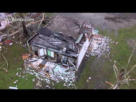 Tornado damage in Birmingham AL