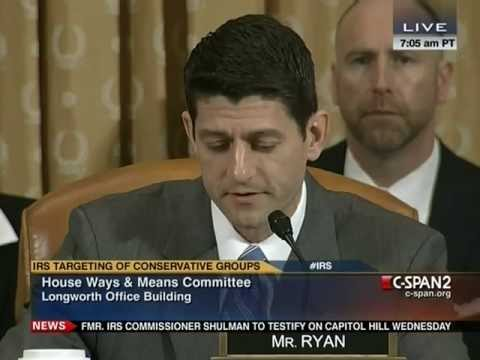 Ryan Questions IRS Commissioner