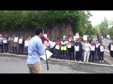 Protest against MQM Altaf hussain in Oslo-Norway - 21.05.2013 CLIP 1/3