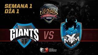 [ESP] Giants Gaming vs Meet Your Makers- LCS EU- Week 1, Day 1