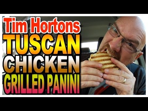 Tim Horton's Tuscan Chicken Grill Panini Taste Test