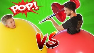 GIANT Climb-Inside Balloon POP Challenge