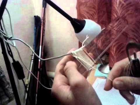 Видео как вязать сети