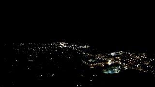 Night Flight Over Cocoa Beach Aerial Video