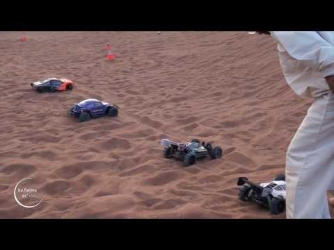 RC ELECTRIC CARS RACING AND HILL CLIMBING - ARABIAN DUNES