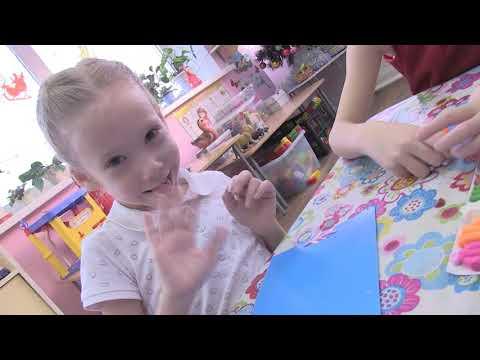 Занятие в детском саду-пластилинография