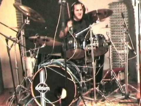 John Macaluso recording with Pier Gonella at MusicArt studio, Genova, Italy