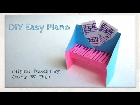 Diy easy piano origami tutorial instructions handmade for How to make simple things out of paper