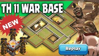 New Th11 War Base 2018 Replay | Anti 2 Star/Anti 3 Star/Anti Queen Walk Bowler Witch