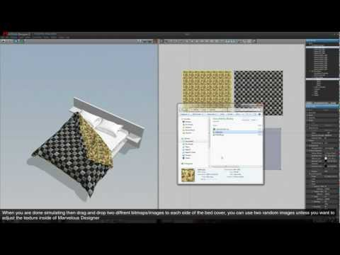 "Tutorial #02 Creating a bed ""cloth"" (Marvelous Designer) [1080p]"
