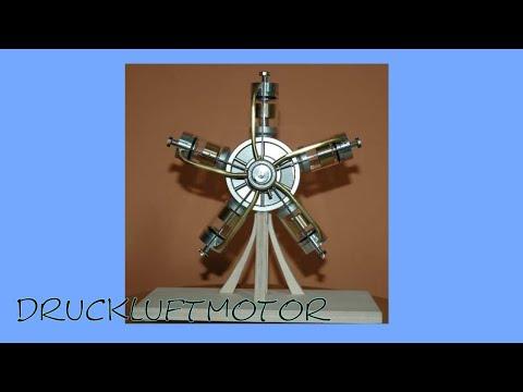 2009 03 11 Druckluft 1 5 Zylinder Sternmotor Druckluftmotor Youtube