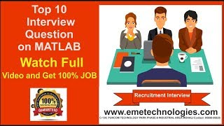 Top 10 Interview Question on MATLAB