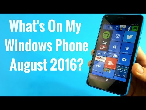 What's on my Windows Phone August 2016?