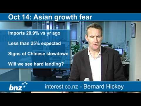 90 seconds at 9 am: Asian growth fear (news with Bernard Hickey)