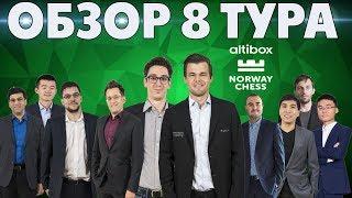 ШАХМАТЫ. СУПЕРТУРНИР ALTIBOX NORWAY CHESS. СТАВАНГЕР 2019. ОБЗОР 8 ТУРА