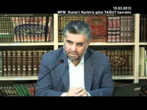Prof Dr Abdülaziz BAYINDIR -- Kuran Kilisenin ve Tarikatların TAĞUT Olduğunu Söylüyor