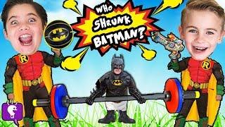 GIANT Little BATMAN Adventure? Surprises on Basket Ball Court