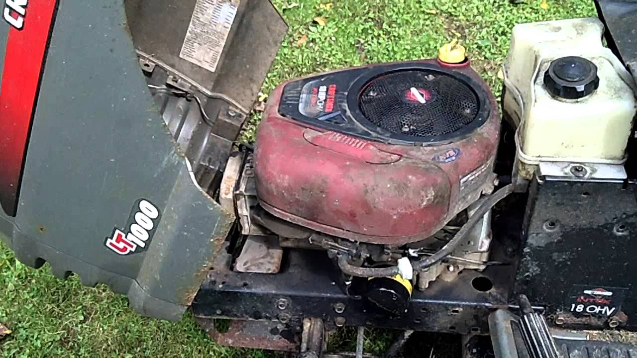 Craftsman Lt1000 Lawn Tractor Youtube