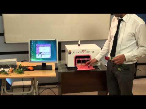 Çiçek Baskı Makinesi