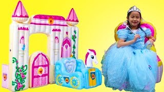 Jannie Pretend Play with Inflatable Princess Castle Toy